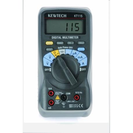Kewtech KT115 600V & 10A AC/DC Multimetr